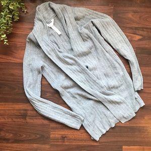 Grey cardigan robe